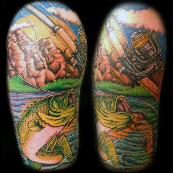Ideas para Tatuajes de Pesca y Anzuelos 17