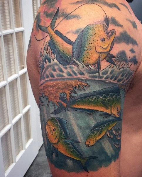 Ideas para Tatuajes de Pesca y Anzuelos 18