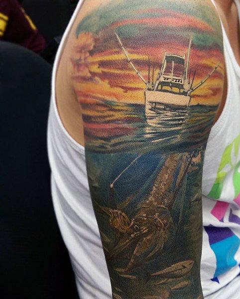 Ideas para Tatuajes de Pesca y Anzuelos 5