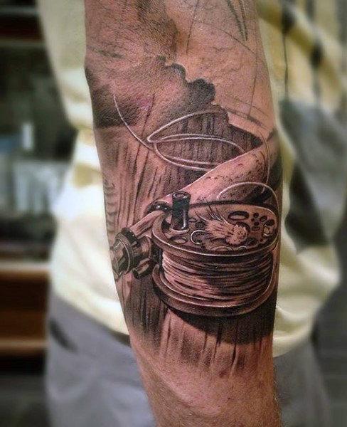 Ideas para Tatuajes de Pesca y Anzuelos 11