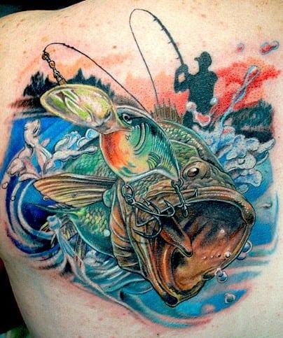 Ideas para Tatuajes de Pesca y Anzuelos 49