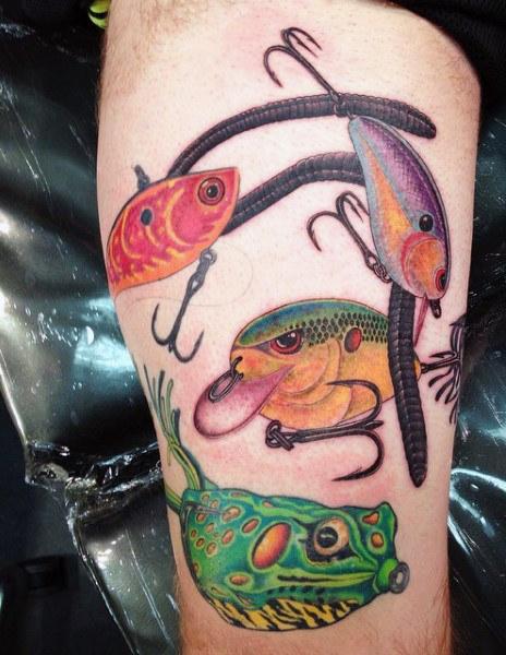 Ideas para Tatuajes de Pesca y Anzuelos 54