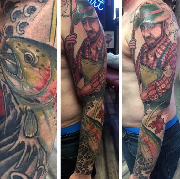 Ideas para Tatuajes de Pesca y Anzuelos 30