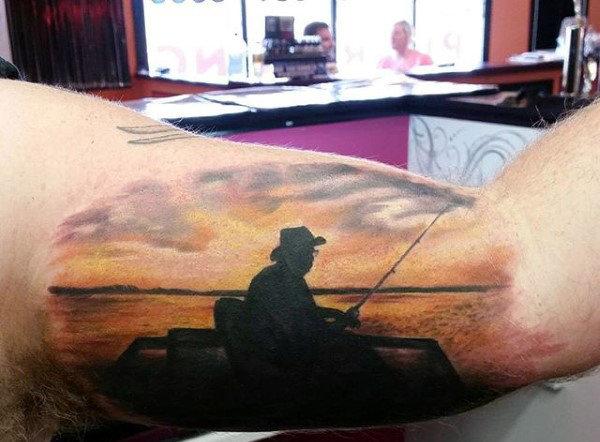 Ideas para Tatuajes de Pesca y Anzuelos 31