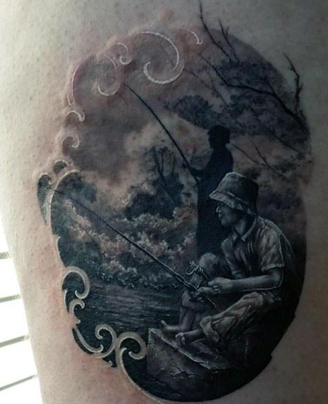 Ideas para Tatuajes de Pesca y Anzuelos 32
