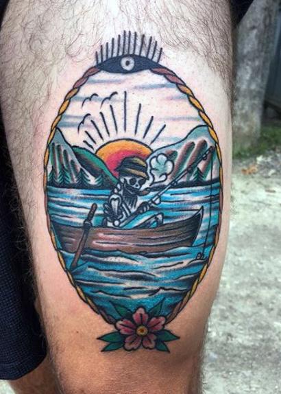 Ideas para Tatuajes de Pesca y Anzuelos 29