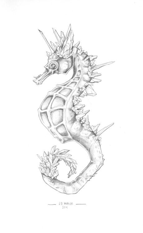 69 Ideas para Tatuajes de Caballitos de mar (+ Significado) 47