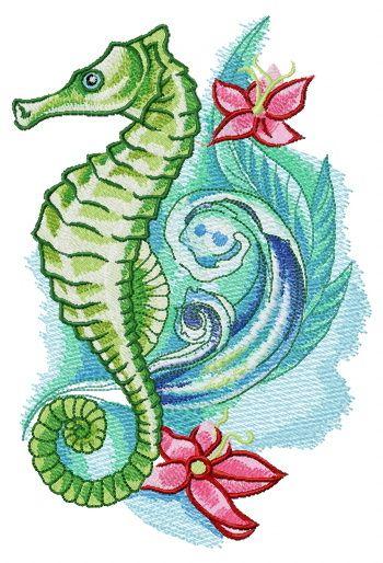 69 Ideas para Tatuajes de Caballitos de mar (+ Significado) 48