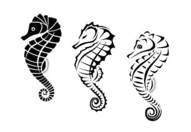 69 Ideas para Tatuajes de Caballitos de mar (+ Significado) 50