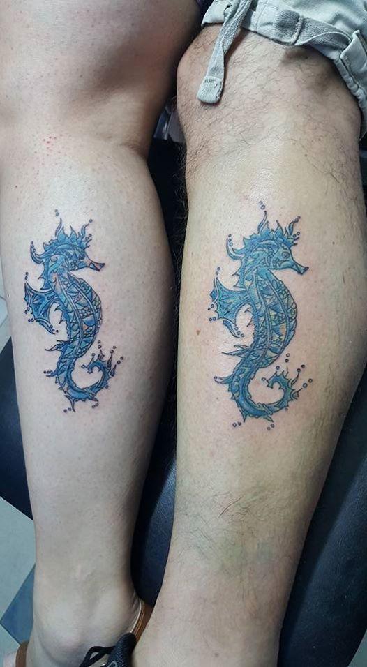 69 Ideas para Tatuajes de Caballitos de mar (+ Significado) 6