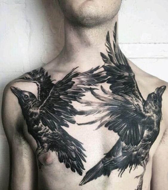 69 Ideas para Tatuajes de Cuervos (+ Significados) 22