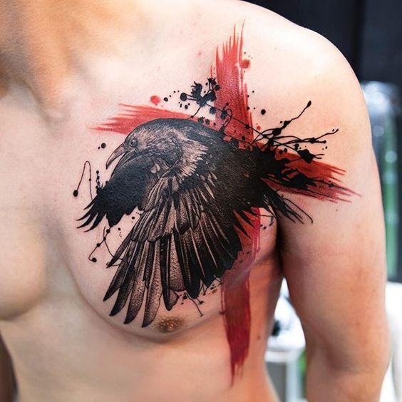 69 Ideas para Tatuajes de Cuervos (+ Significados) 25