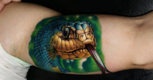 101 Ideas de Tatuajes de Serpientes y sus Significados 1
