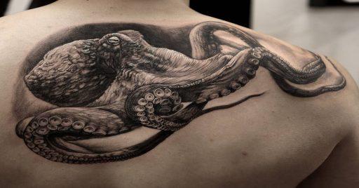 96 Ideas para Tatuajes de Pulpos (Kraken) con Significados 1