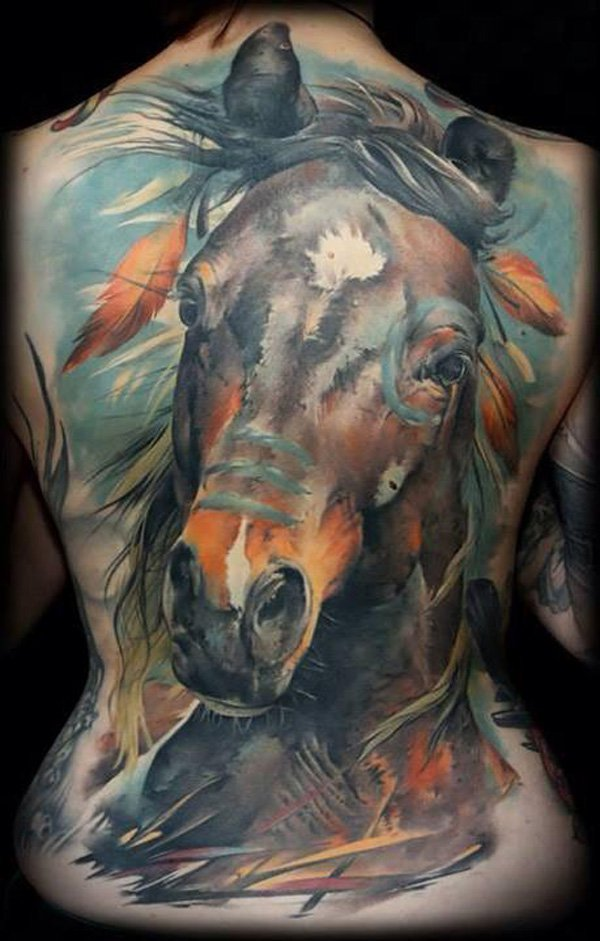 73 Ideas para Tatuajes de Caballos (+ Significados) 47