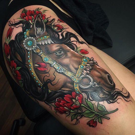 73 Ideas para Tatuajes de Caballos (+ Significados) 6