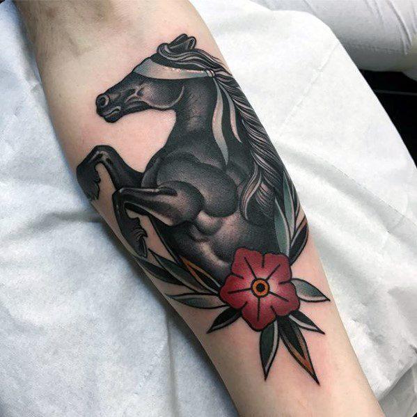 73 Ideas para Tatuajes de Caballos (+ Significados) 56