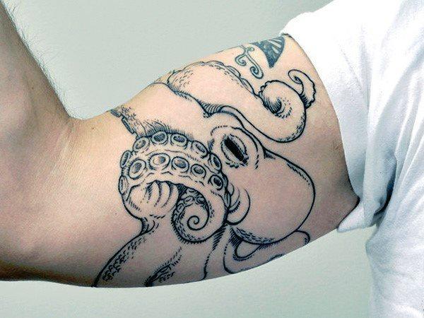 96 Ideas para Tatuajes de Pulpos (Kraken) con Significados 66