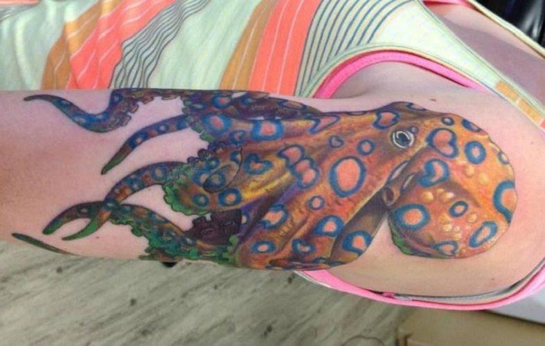 96 Ideas para Tatuajes de Pulpos (Kraken) con Significados 58
