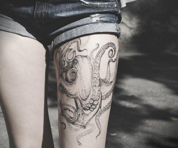 96 Ideas para Tatuajes de Pulpos (Kraken) con Significados 39