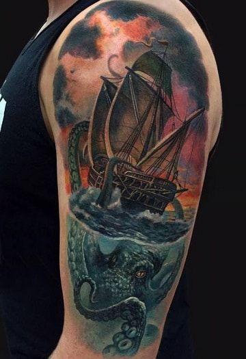 96 Ideas para Tatuajes de Pulpos (Kraken) con Significados 9