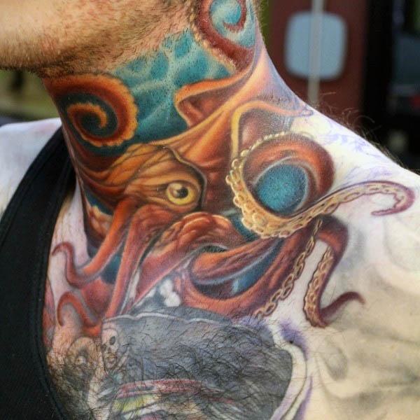 96 Ideas para Tatuajes de Pulpos (Kraken) con Significados 77