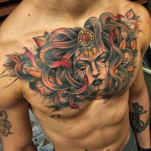 Tatuajes de Medusas: 50 Ideas y sus Significados (+Leyenda) 22