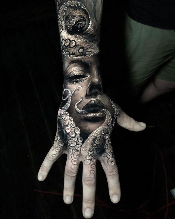 96 Ideas para Tatuajes de Pulpos (Kraken) con Significados 6