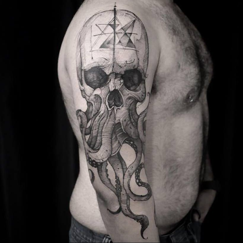 96 Ideas para Tatuajes de Pulpos (Kraken) con Significados 71