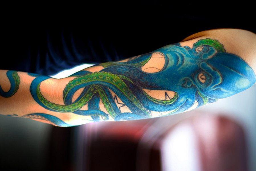 96 Ideas para Tatuajes de Pulpos (Kraken) con Significados 21