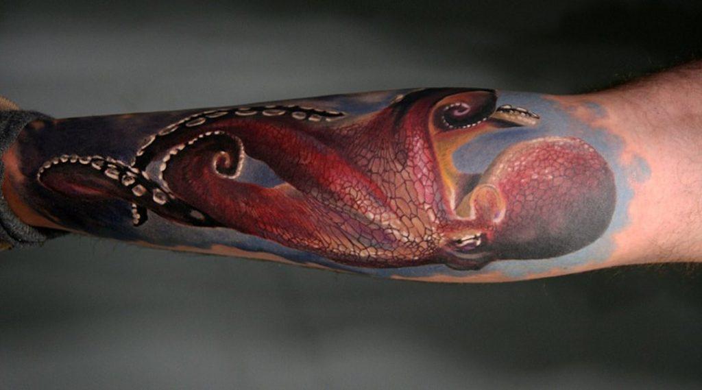 96 Ideas para Tatuajes de Pulpos (Kraken) con Significados 23