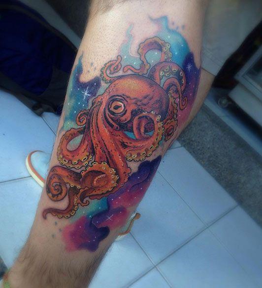 96 Ideas para Tatuajes de Pulpos (Kraken) con Significados 54