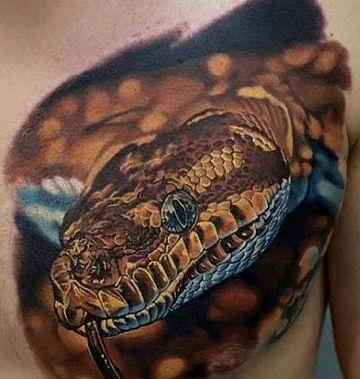 101 Ideas de Tatuajes de Serpientes y sus Significados 61