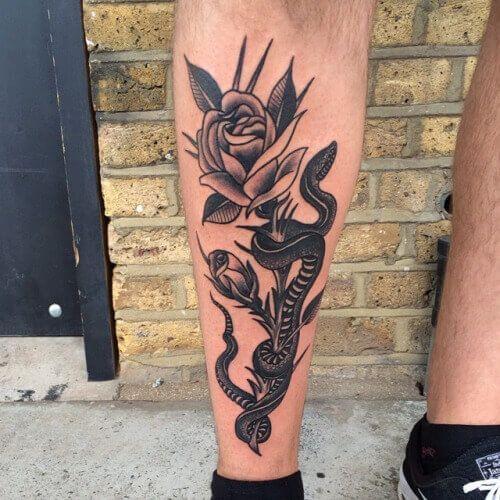 101 Ideas de Tatuajes de Serpientes y sus Significados 54