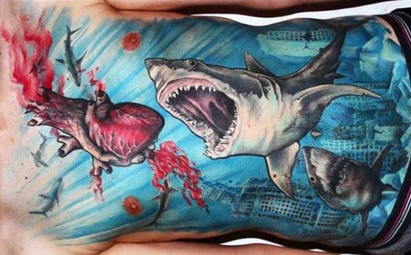 82 Mejores Tatuajes de Tiburones con Significados 25