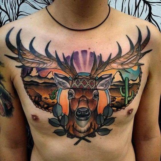 72 Ideas para Tatuajes de Venados (Con Significados) 36