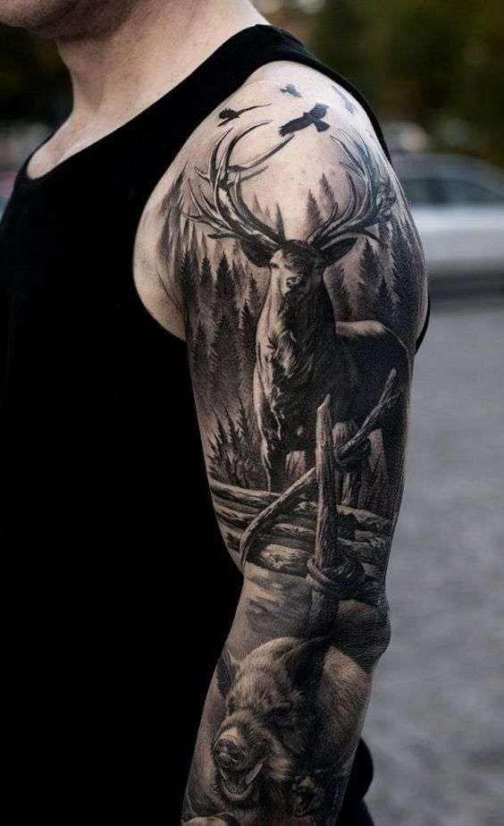 72 Ideas para Tatuajes de Venados (Con Significados) 33