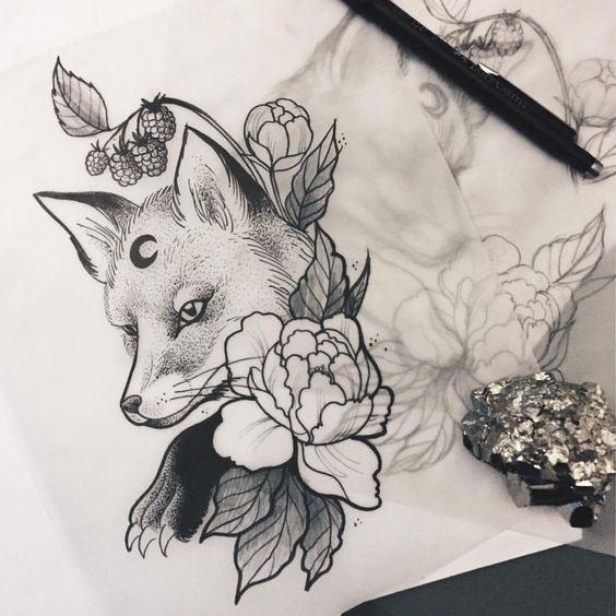 51 Tatuajes de zorros y sus significados 14