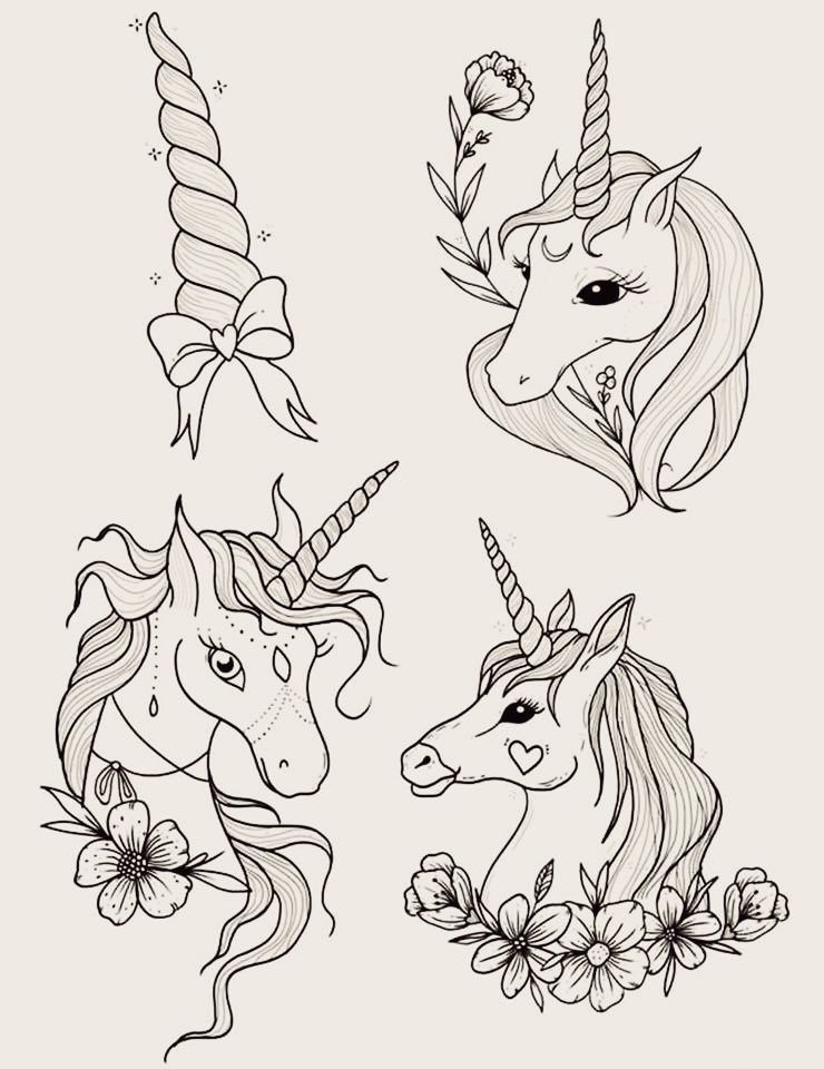 62  Ideas para Tatuajes de Unicornios (+Significados) 61