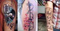 Tatuajes de Notas Musicales e Instrumentos 12