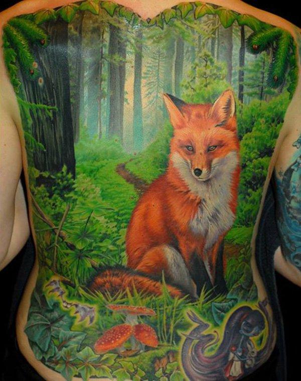 51 Tatuajes de zorros y sus significados 20