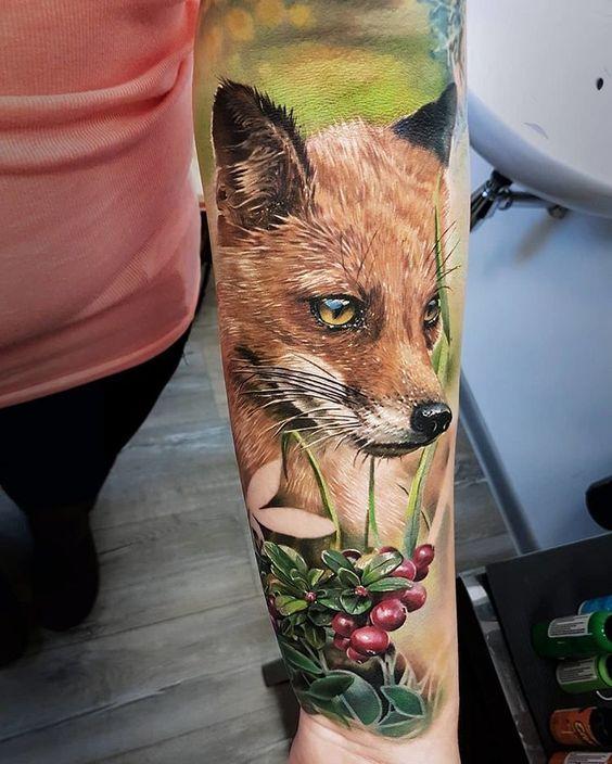51 Tatuajes de zorros y sus significados 23