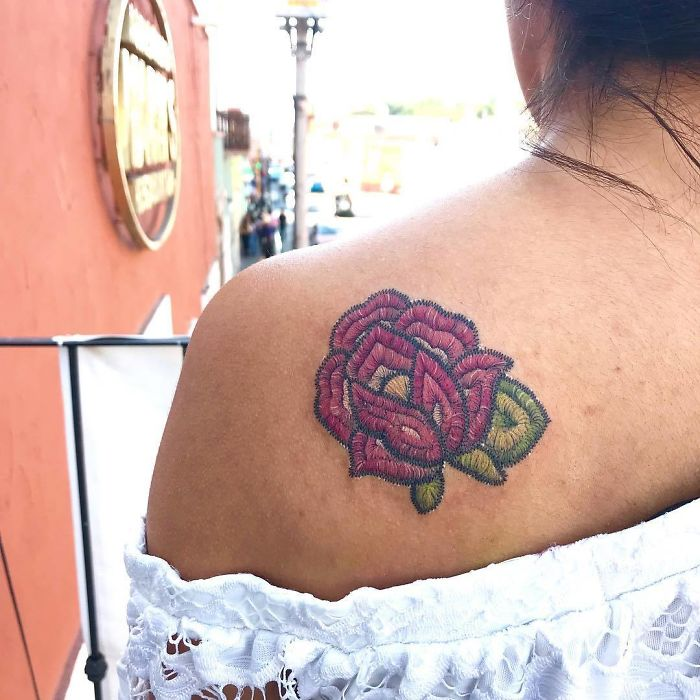 Tatuajes Bordados: La nueva Moda y sus estilos (Mexicano) 15