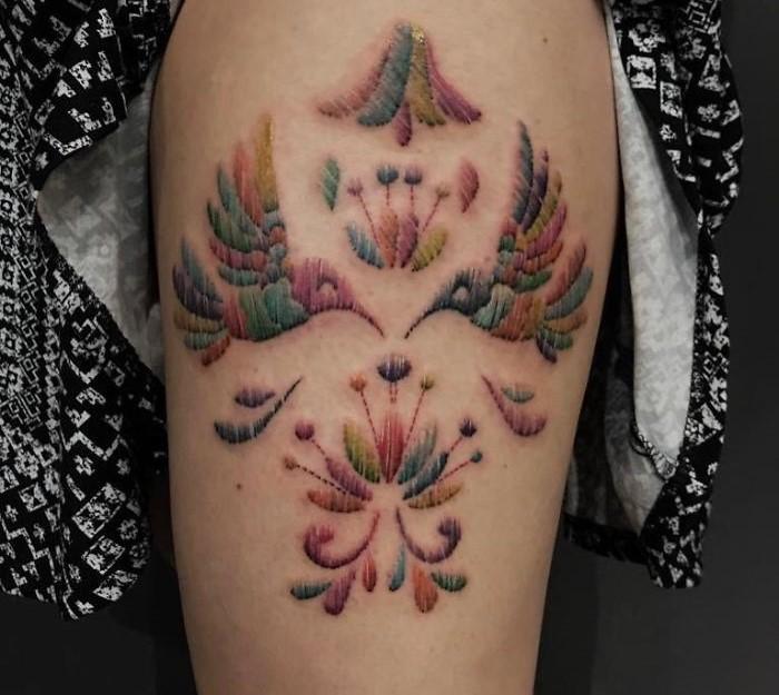 Tatuajes Bordados: La nueva Moda y sus estilos (Mexicano) 7