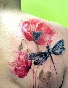 68 Tatuajes de Libélulas con sus Significados 10