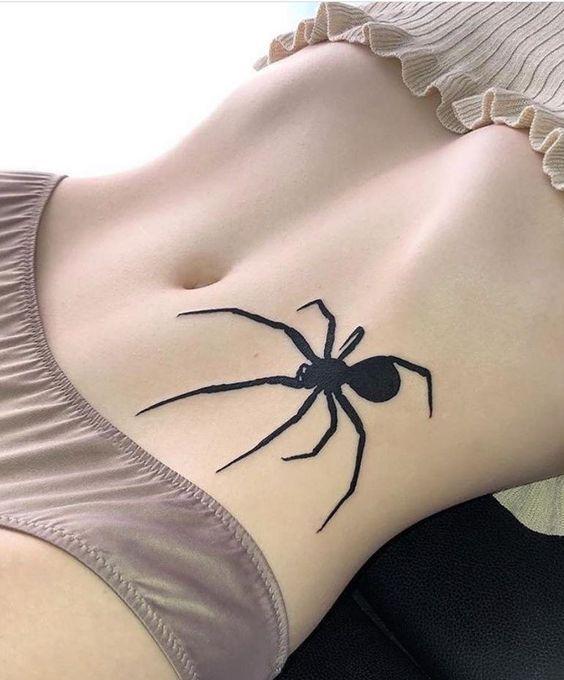 60 Tatuajes de Arañas con significados 30