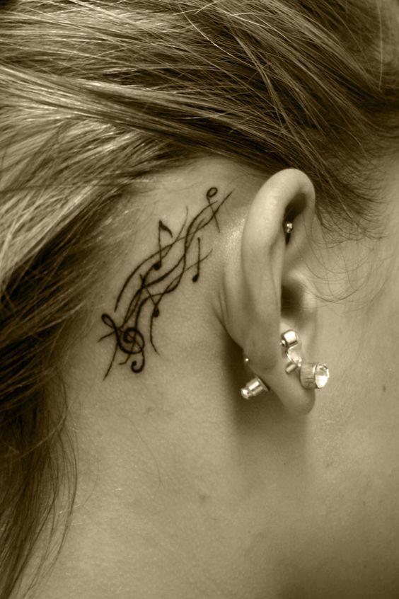 Tatuajes de Notas Musicales e Instrumentos 21