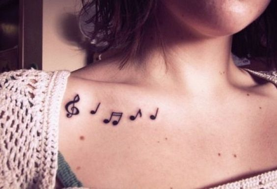 Tatuajes de Notas Musicales e Instrumentos 23