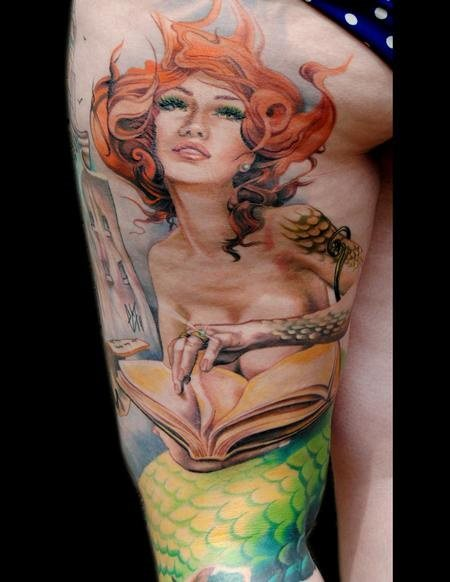 58 Ideas para Tatuajes de Sirenas (Significados) 20