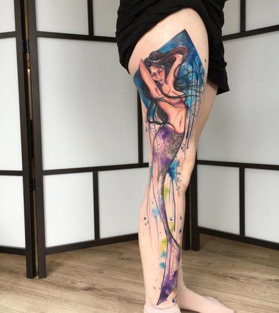 58 Ideas para Tatuajes de Sirenas (Significados) 13